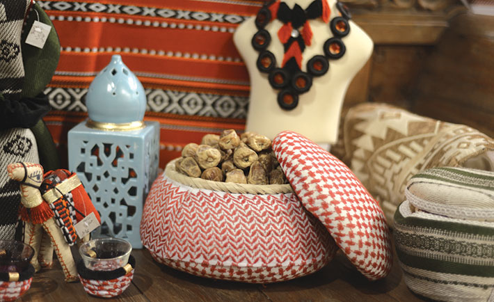 Products made by women artisans.