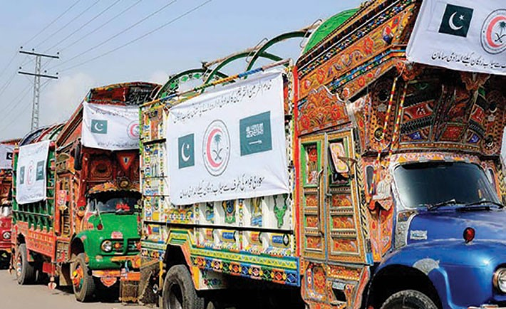 Second flood relief convoy in Pakistan.