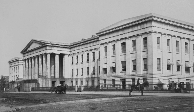 New U. S. Patent Office building constructed after the 1836 Great Fire, Photo Credit: wikipedia.org