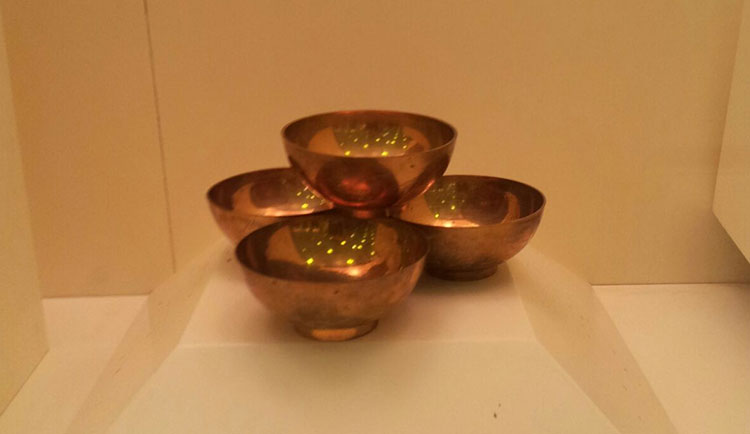 Brass bowls, which were used to drink the Zamzam water