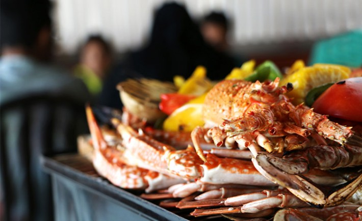 Sea food festival sayadiyah crab house in jeddah review for Art cuisine jeddah