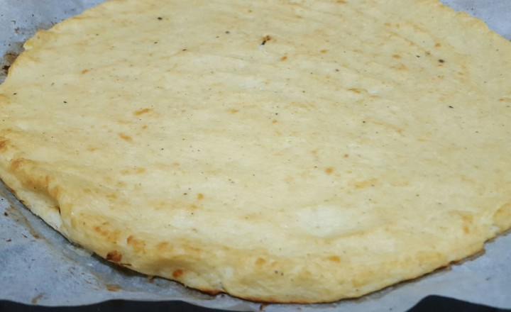 This is how the crust looks after it is baked