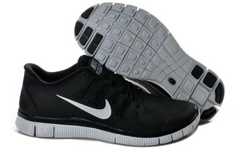 Running-Shoes-Mens-Womens-Nike-Free-5.0-V2-Black-Silver