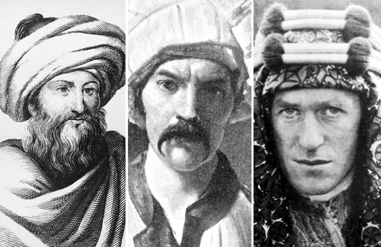 Swiss polymath Johann Burckhardt, Englishman Richard Burton and T.E. Lawrence