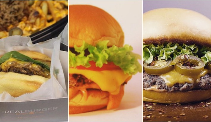 the real burger Collage