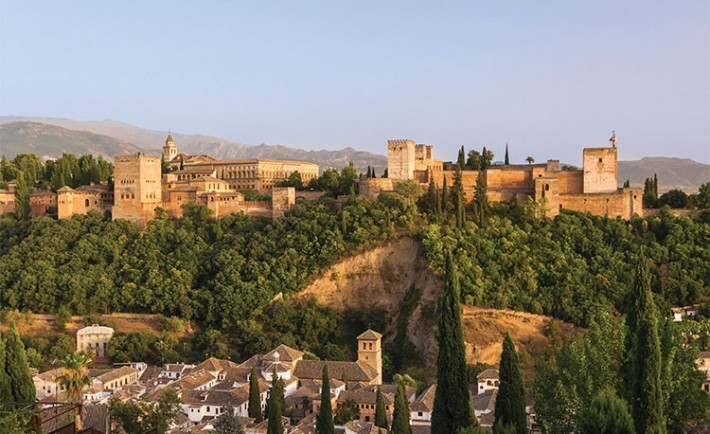 Alhambra_hill_over_Granada_Spain