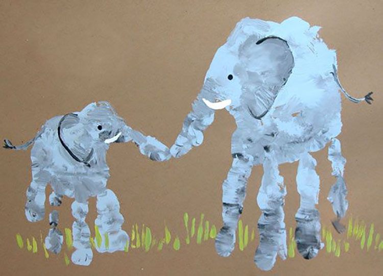 Make animals using hands and feet