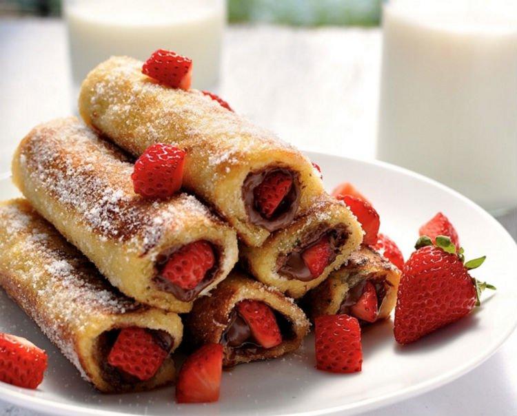 Yummly nutella spring rolls