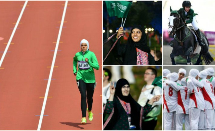 saudi women olypmpics Collage