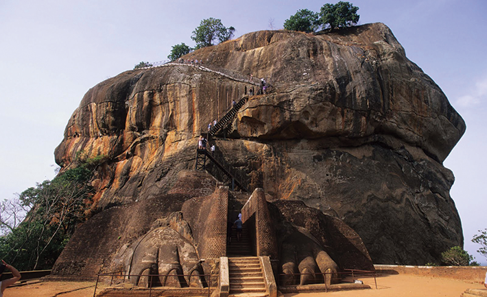 Sigiriya rock fortress.