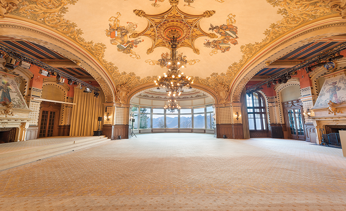 Ballroom at SHMS, Caux campus.
