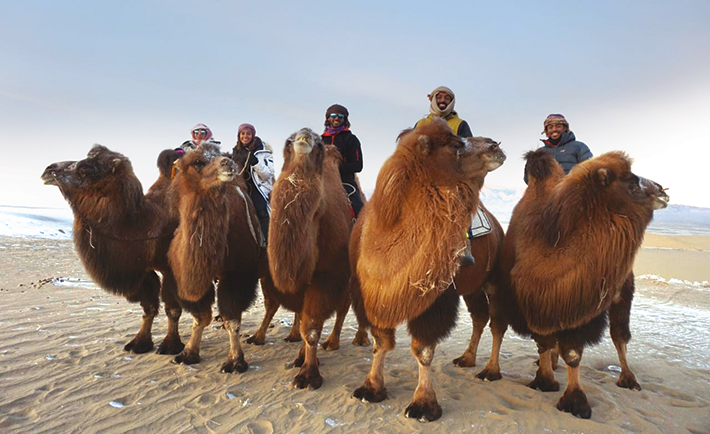 Camel ride in Khovd, Mongolia.