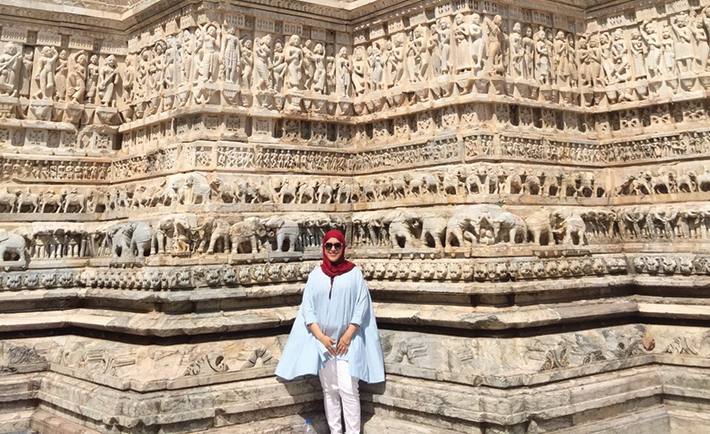 Discovering a temple in Udaipur, India.