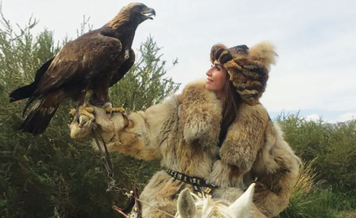 Visiting the Mongolian Kazakh Eagle Hunters during a trip with Husaak Adventures.
