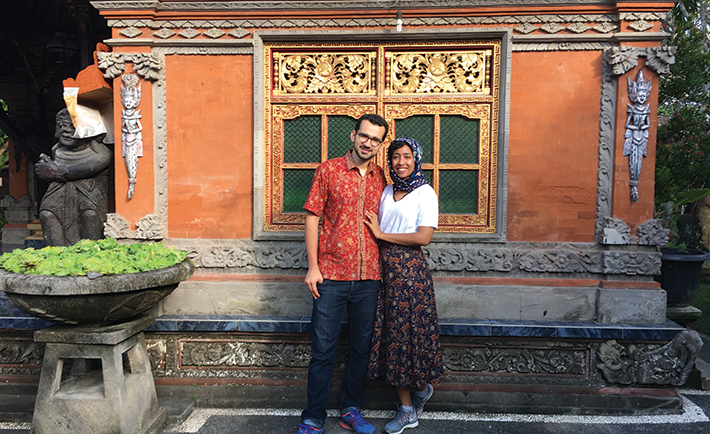 Staying at a traditional Balinese family home.