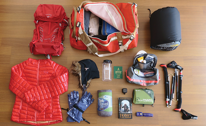 Anoud's hiking essentials