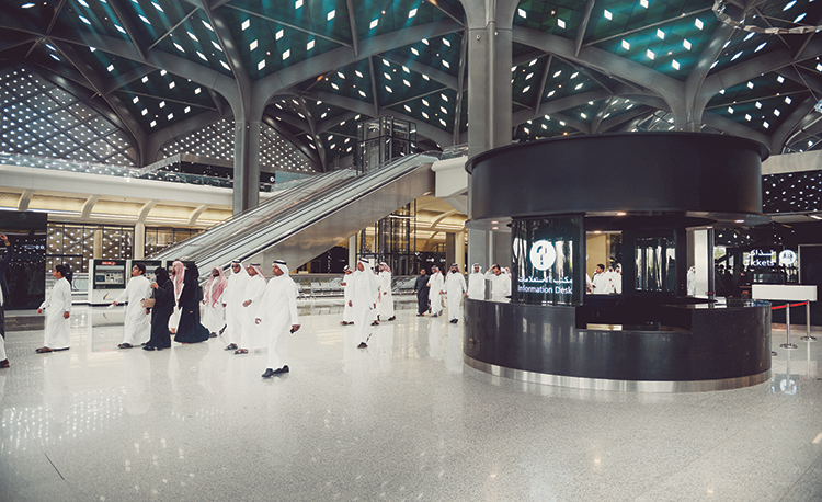 One of the stations of the Haramain High-Speed Railway Project, which will transport Hajj pilgrims