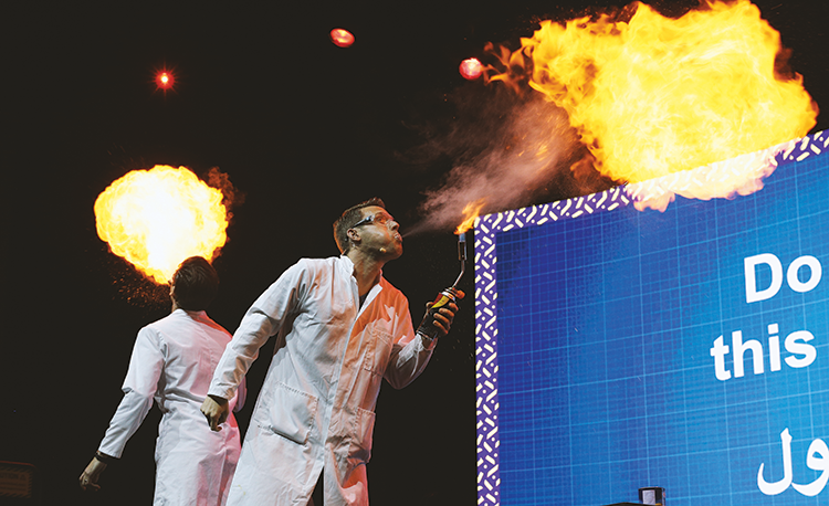 The Crazy Science Show garnered over 1,700 attendees.