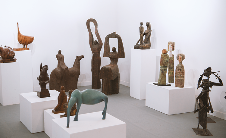 Sculptures exhibited at Misk Art Week