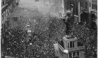 the-announcing-of-the-armistice-on-november-11-1918-was-the-occasion-for-a-monster-celebration-in-philadelphia-pennsylvania