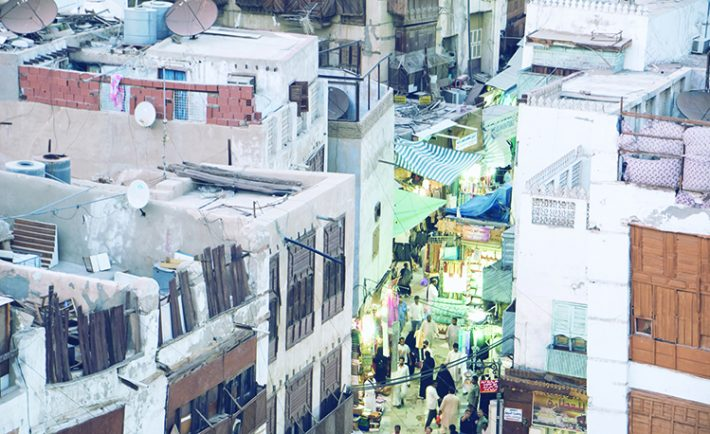 The shops are small and the alleys are narrow