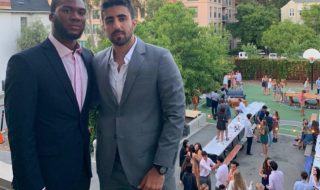 Jad Abdul Jawad (right) with his good friend Daniel Izu