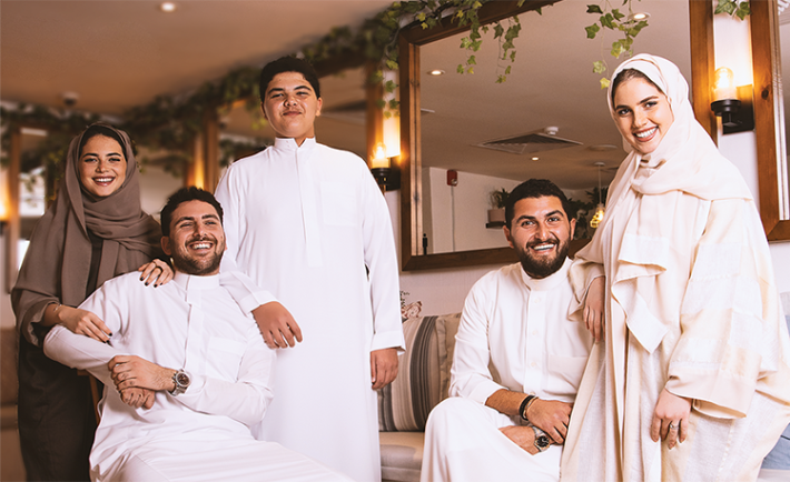 From Left to Right: Haneen, Tarek, Talal, Ibrahim, & Farah Naaman