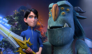 Trollhunters: Rise Of The Titans - (L-R) Jim (voiced by Emile Hirsch) and Blinky (voiced by Kelsey Grammer). Cr: DreamWorks Animation © 2021